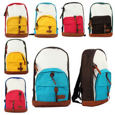 Women Girls Canvas Shoulder Bag Backpack Rucksack Satchel Bookbag New Fairish
