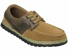 Mens Lace Up Boat Shoes Size 6 to 11 UK - BREATHABLE DECK SHOES  - F818