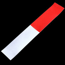 Best 2/5/10X Red-White Truck Safety Warning Night Reflective Strip Tape Sticker