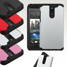 For HTC Desire 610 Hybrid ShockProof Protective Hard Case Cover
