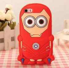 IRON MAN Minion Cute Despicable Me Silicone Gel iPhone/iPod Touch Case Cover