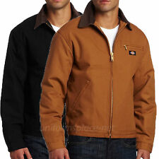 DICKIES Jacket Mens Duck Blanket Lined Jackets 758 Back, Brown Cotton