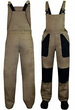 Mens Heavy Twill Builders Work Dungarees Bib and Brace Overall Trousers