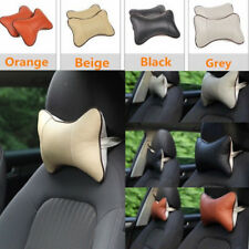 2 Pcs Cute Bow Shape Car Seat Head Neck Rest Cushion Pillow Pad Headrest Cover