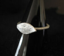 925 Sterling silver textured LEAF ring