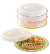 Miles Kimball Divided Plates And Food Storage Containers - Set Of 4