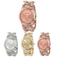 Fashion Stylish Womens Watch Stainless Steel Band Quartz Wristwatch New Pop