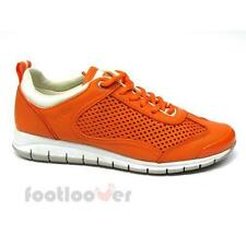 Shoes Geox Contact D3206M C7013 Sneakers Casual Moda Women's Orange Leather