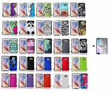For Samsung Galaxy S6 Hard Case Snap-on Phone Cover Case + Free Screen Protector