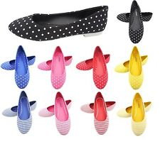Ballet Pumps - Ladies Dolly Shoes Womens Flat Summer Pumps -New in Box UK Seller