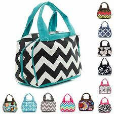 "9"" Insulated Cooler Lunch Bag Thermal Tote Box School Lunchbox Beach Picnic"