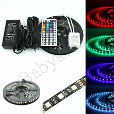 12V 5M Waterproof Black PCB Board RGB SMD 5050 Flexible LED Strip Light for CAR