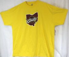 NEW Mens MAJESTIC Cleveland Cavaliers Lebron James #23 Big & Tall Yellow T-Shirt