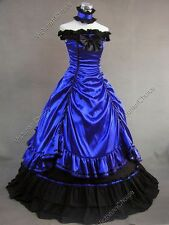 Civil War Victorian Period  Dress Ball Gown Reenactment Theatre Cosplay Punk 135