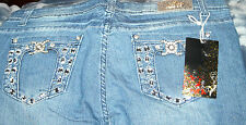 PLUS SIZE BLING JEANS  With Free Harley Davidson Key Ring!  Great price