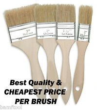 """6 Pack Chip Brushes Brush for Adhesives Glue Paint Touch Up 1"""" 2"""" 3"""" 4""""XX"""