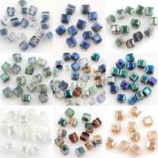 50Pcs Cube Square Austria Crystal Beads Loose Jewelry Findings Charm Bead5x5x5mm