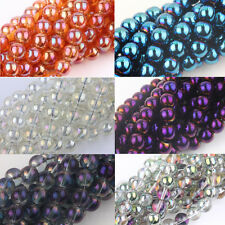 10/15/25/50Pcs Round Czech Crystal Glass Loose Spacer Bead Findings 6/8/10/12mm