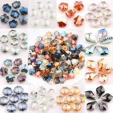 10/15/25Pcs Glass Crystal Faceted Loose Craft Pendant Spacer Findings Charm Bead