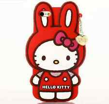 Hello Kitty Bunny Soft Silicone Apple iPhone & Samsung S3/S4/S5 Case Cover