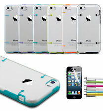 Shockproof Colorful Heavy Duty Hybrid Case Cover For iPhone 5C +Stylus