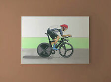 Bradley Wiggins Individual Time Trial, London 2012 Olympics CANVAS PRINT