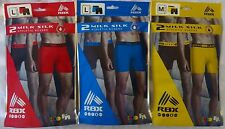 RBX Milk Silk Men's Boxer Briefs Athletic Underwear Choose Size Poly Blend