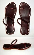 Expresso Brown Toe Ring Strap Hippie Boho Gypsy Leather Sandals