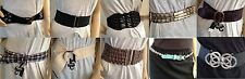 TOPSHOP Ladies WAIST HIP Fashion Leather Stretch BELT Collection NEW FREE P&P G3
