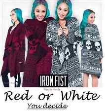 Iron Fist My Christmas / Ugly Christmas Sweater Cardigan Red or White Size M-XL