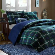 Mizone Brody Green & Blue Plaid Comforter Set