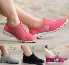 Women Ventilate Casual Gym Walking Loafers Slip on Tennis Athletic Shoes EQ647