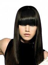 SUPER THICK CLIP IN ON FRINGE BANGS HAIRPIECE 10 COLOUR CHOICES 100% HUMAN HAIR