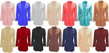 Ladies New fashion blazer jacket spring smart casual fitted 12 colour options