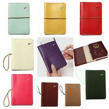 Travel Utility Leather Cover Wallet Organiser Passport Tickets Card Case Holder