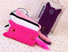 Fluffy Cat Tail Case Cover for Samsung Galaxy Note 4 N9100