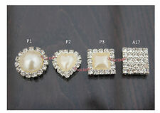 GRADE A DIAMANTE PEARL CRYSTAL CLUSTER FLATBACK WEDDING EMBELLISHMENT