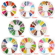 1X Fimo Acrylic Nail Art Decoration Tips 120 PC Multicolors Slice Manicure Wheel
