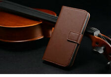 Iphone 5S  5 Genuine Leather Mobile Case Wallet with Stand Flip cover low price