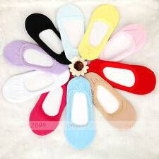 Lady comfy Invisible Boat Socks Ballerina Elastic Loafer Footie 11 Color Select