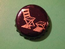 Beer Bottle Crown Cap ~ LAWN CHAIR Design ** Add'l Caps Only $0,25 S&H Worldwide
