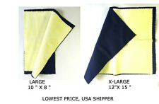 Jewelry Polishing Cloth Cleaning for Platinum Gold and Sterling Silver-L & XL.