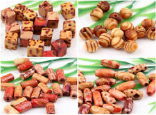 100Pcs Mixed Wood Loose Spacer Charm Bead 4Style Optional
