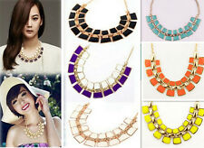 Women Fashion Hot Charm Pendant Chain Choker Chunky Statement Bib Necklace 2015