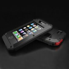 Waterproof Shockproof Aluminum Gorilla Glass Metal Case Cover for iPhone 4 4S 4G