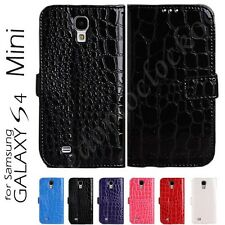 Crocodile Leather Wallet Flip Cover Case for Samsung Galaxy S4 Mini i9190