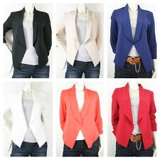 New Women Candy Solid Color Slim Suit Blazer Casual Jacket Reguler S/M/L(261)