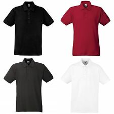 Fruit Of The Loom Mens 100% Cotton Short Sleeve Polo Shirt