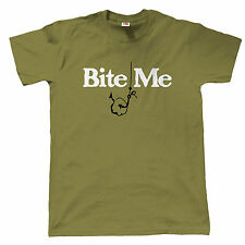 Bite Me Mens Funny Carp Fishing T Shirt - Gift for Dad Fathers Day