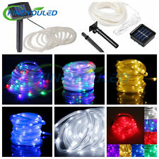 23ft 50leds Solar Rope tube lights Led string STRIP Waterproof Outdoor Garden
